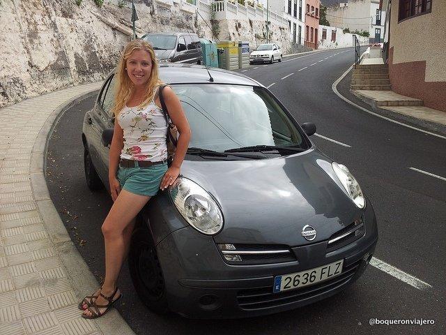 Nuestro coche durante la ruta en Tenerife