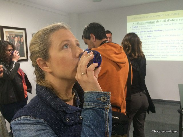 Tasting olive oils in Riusdecanyes