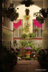Entrada a una Casa Corralón en Málaga