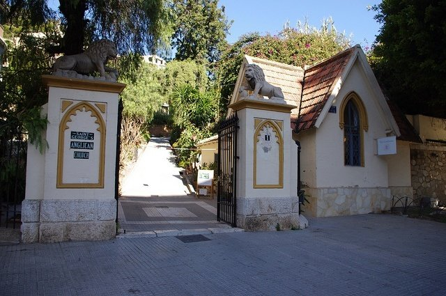 Entrance of the English Cemetery of Malaga