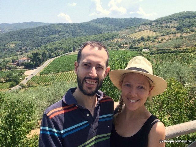 Pedro and Abby in Tuscany