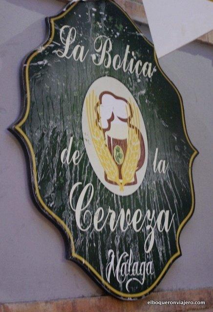 Cartel de la Botica de la Cerveza
