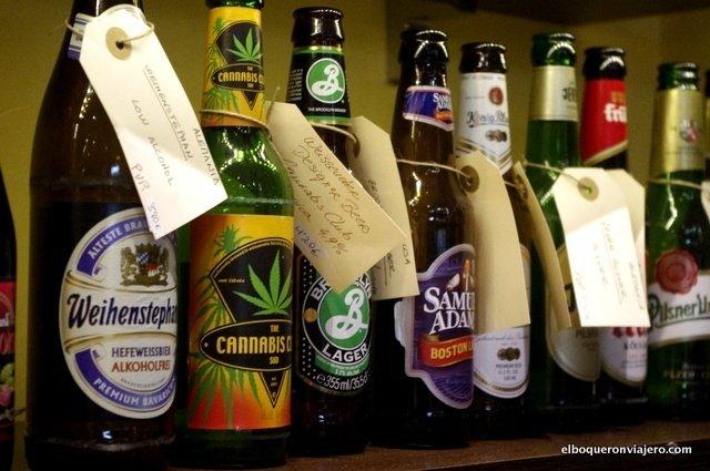 Some of the beers from La Botica de la Cerveza