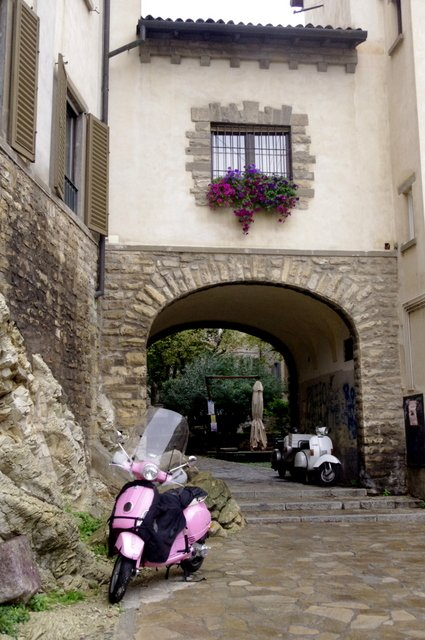Calles de Bérgamo en Italia