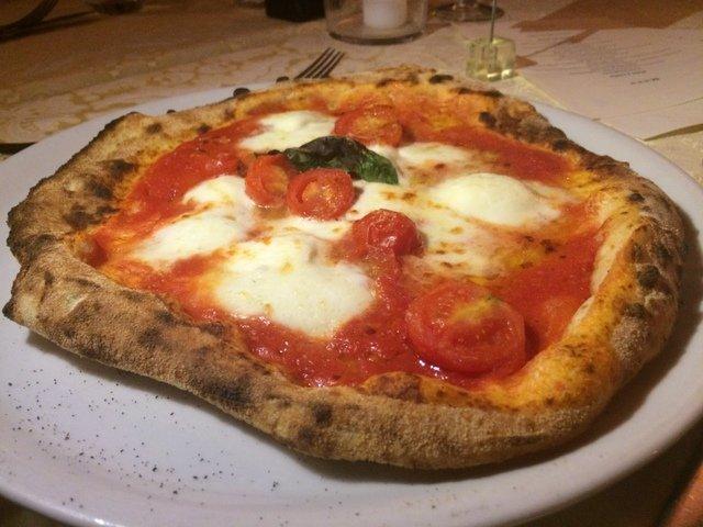 Pizza en Bérgamo