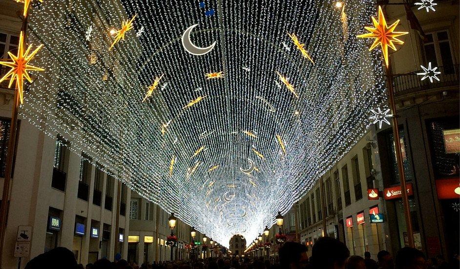 Las luces de Calle Larios en 2015