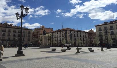 La preciosa Plaza de la Ópera en Madrid.