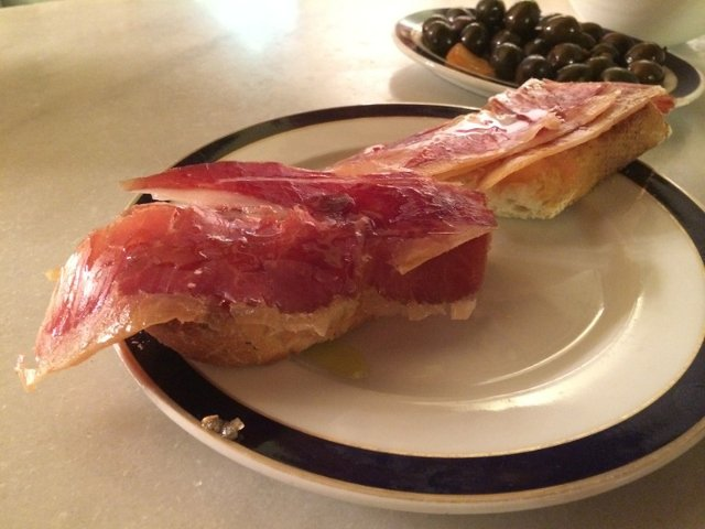 The acorn fed iberian ham that we tried with Devour Madrid.
