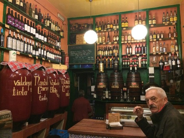We discovered this bar on the Devour Madrid tour.