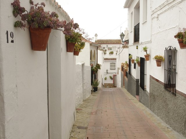 Another view of Calle Alta in Carratraca, Málaga