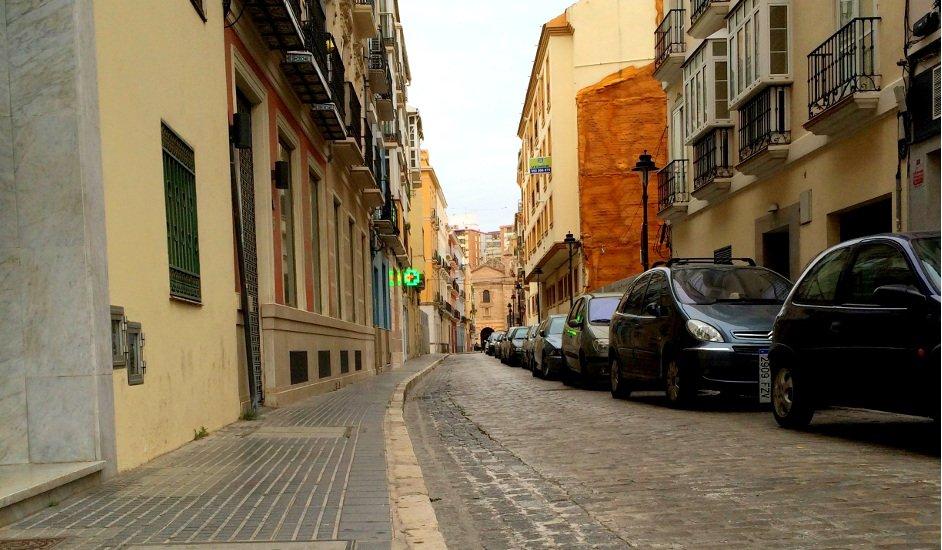Cobblestone streets in El Perchel, Málaga