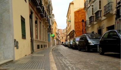 Calles de adoquines en El Perchel, Málaga