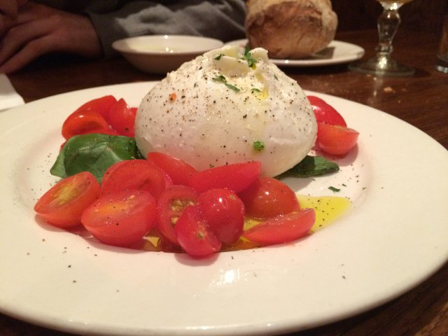 Caprese Salad at Bar Pitti in the West Village of New York