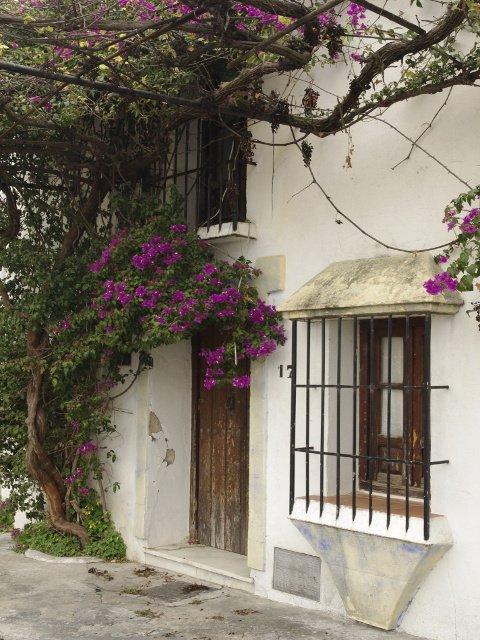 Una casa con bougainvillea en Carratraca, Málaga