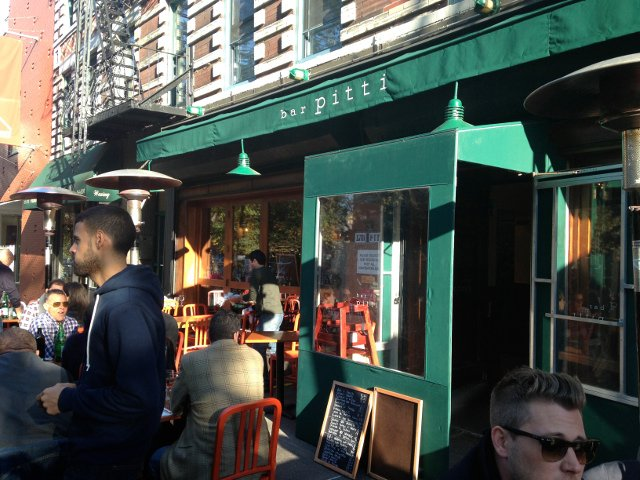 The terrace at Bar Pitti in the West Village of New York