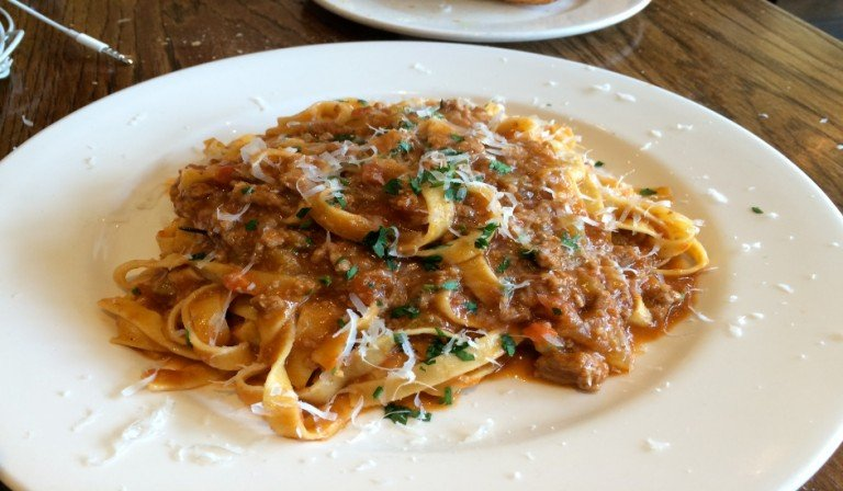 Pasta Bolognese at Bar Pitti in the West Village of New York