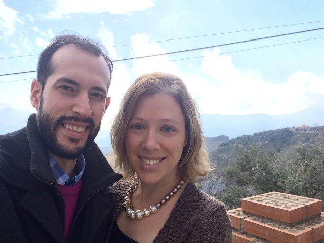Pedro y Abby disfrutando en Lanjarón