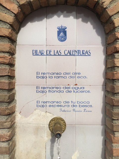 Poem in a fountain in Lanjarón