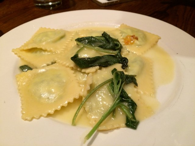 Raviolis at Bar Pitti in the West Village of New York
