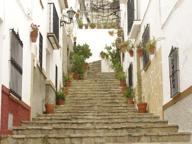 Las escaleras en Carratraca, Málaga