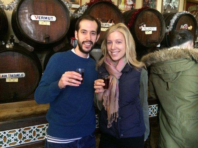 En San Valentín en Málaga se puede tomar un vino en la Antigua Casa de Guardia