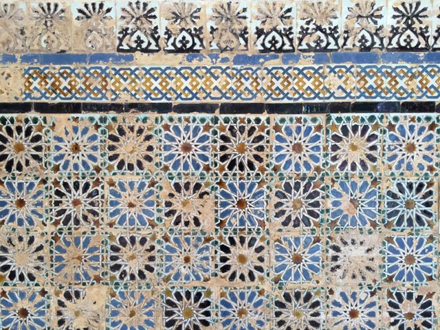 Azulejos en el patio del CAAC Sevilla