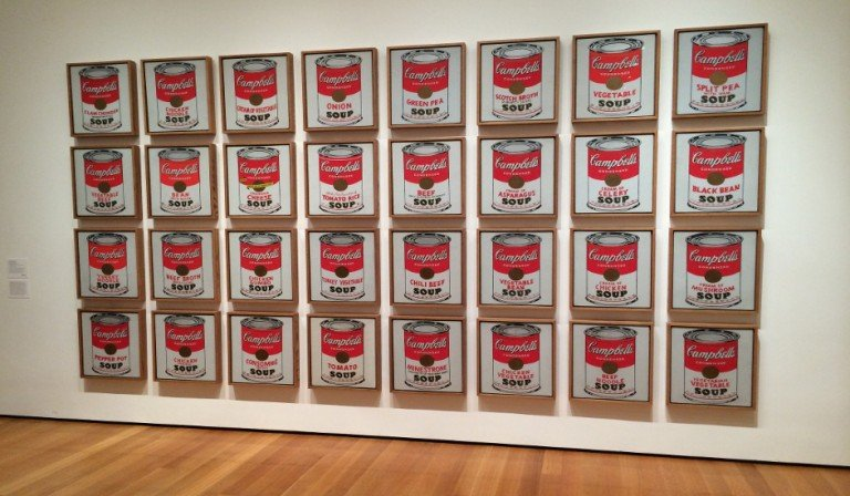 The work of Andy Warhol in MoMA
