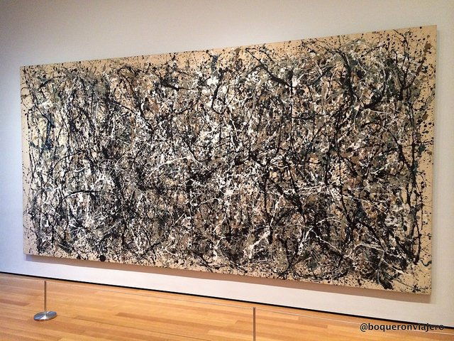 The work of Jackson Pollock in MoMA in New York
