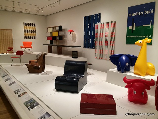 There is something for everyone in MoMA. For example, in this gallery you can see modern furniture