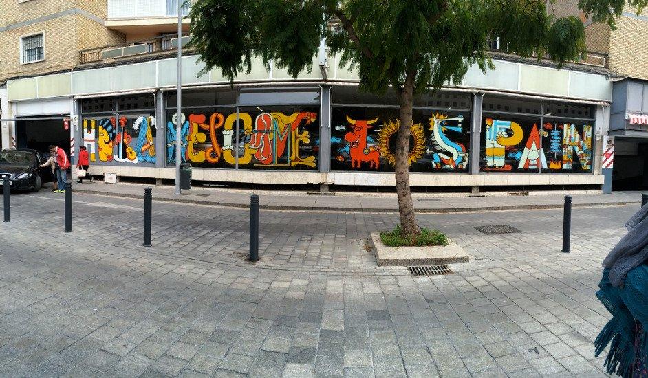 Arte callejero en Málaga