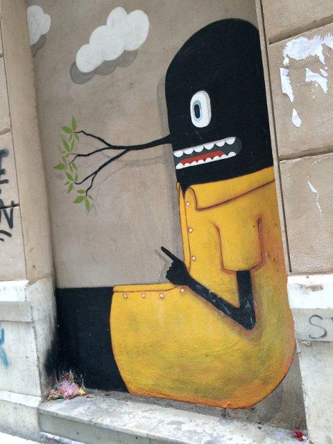 Arte callejero en Málaga a cargo de Javier Calleja