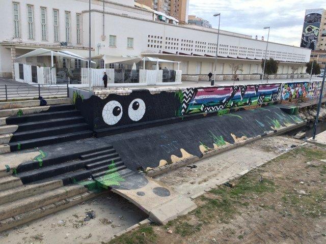 Arte callejero en Málaga cerca del CAC