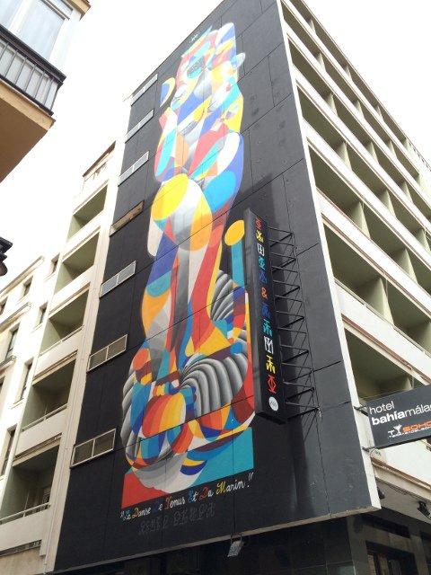 Arte callejero en Málaga en el Hotel Bahía Málaga