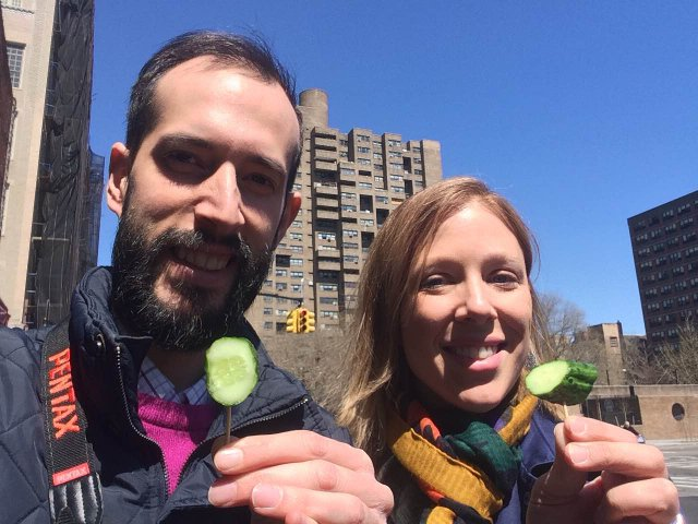Tasting a pickle Foods of the Lower East Side Tenement Museum Tour