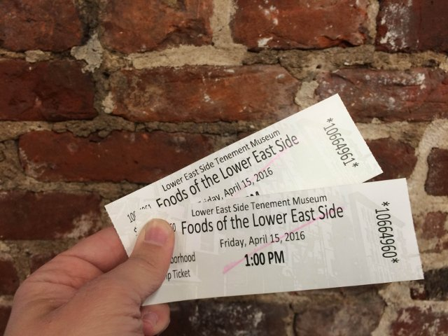 Tickets Foods of the Lower East Side Tenement Museum