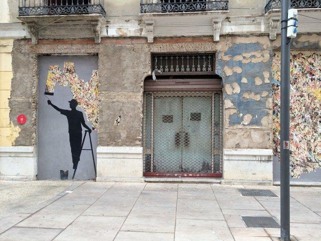 Uno de mis ejemplos favoritos del arte en Málaga