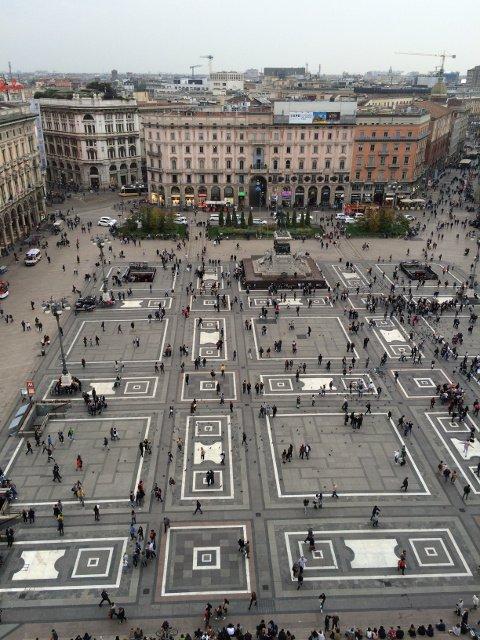 Vista de Milán desde el Duomo