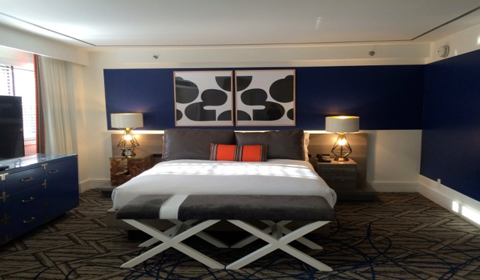 Bed at the Hotel Palomar in Washington DC