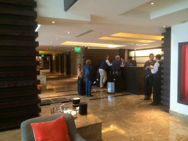 Recepción del Hotel Palomar en Washington DC