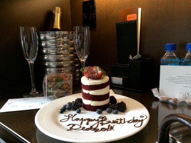 Birthday Cake at Hotel Archer