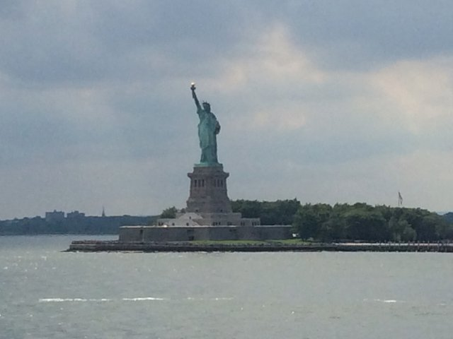 Lady Liberty from the cruise