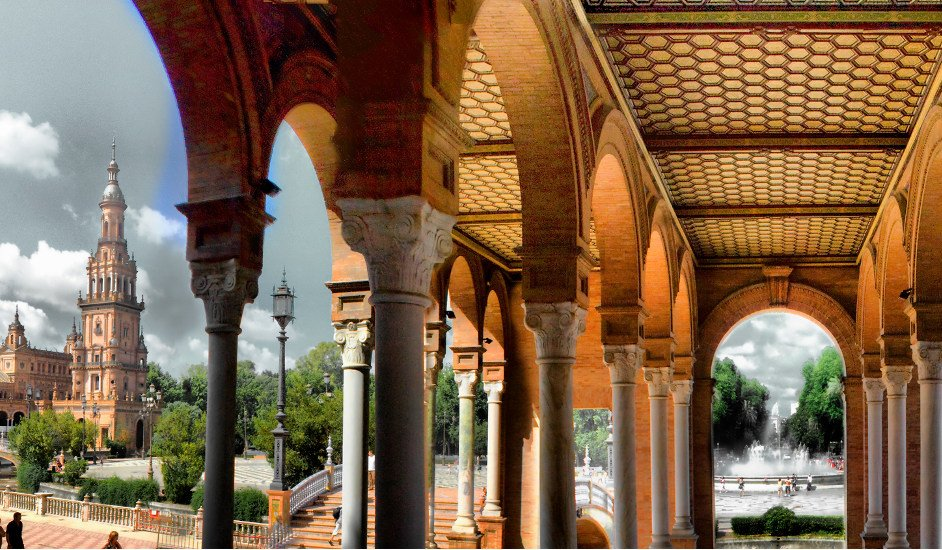 Five Places in Andalusia Plaza de Espana Seville