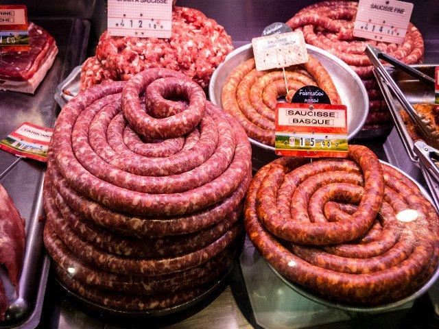 Salchicha en mercado de Toulouse