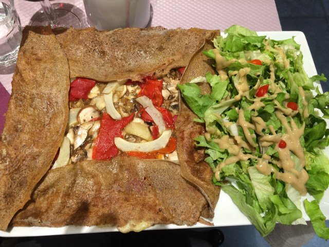 Crepes filled with vegetables Toulouse