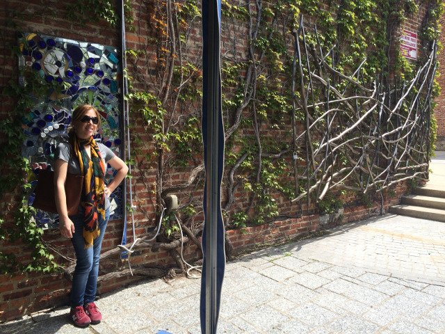 Abby in Sculpture Garden Visionary Arts Museum Baltimore