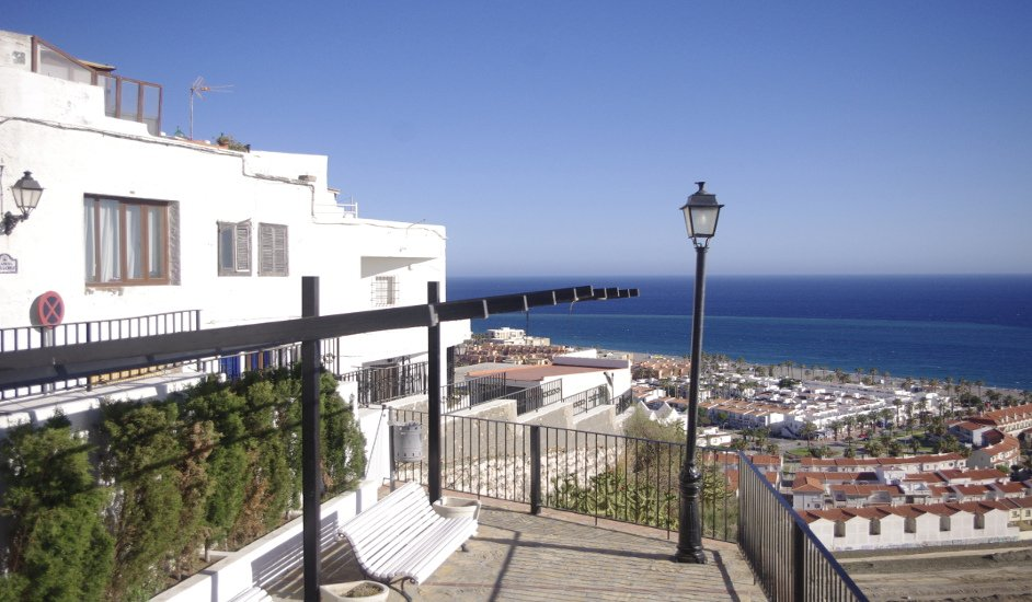 The views of the sea from the town of Salobreña