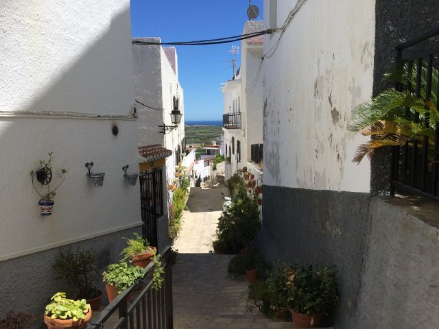 The streets of Salobreña