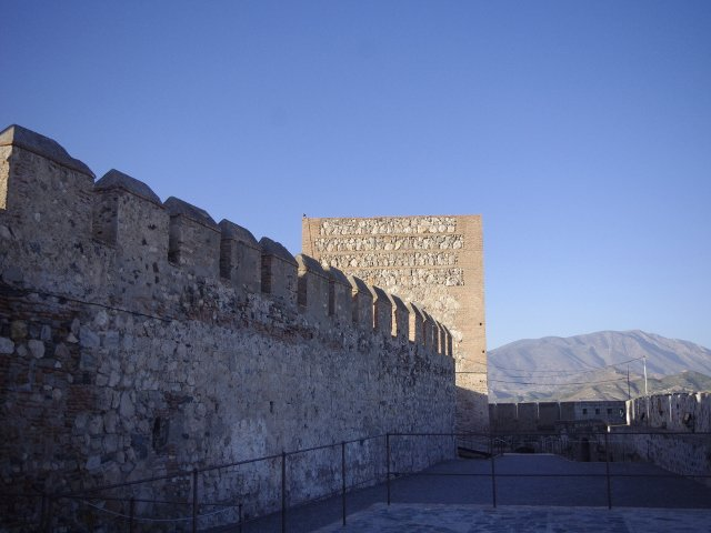 The wall of the Castle in Salobreña