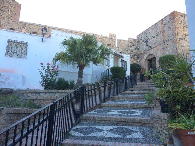 La entrada del castillo en Salobreña