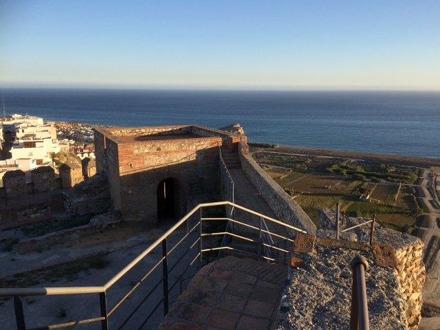 Vistas desde el castillo de Salobreña